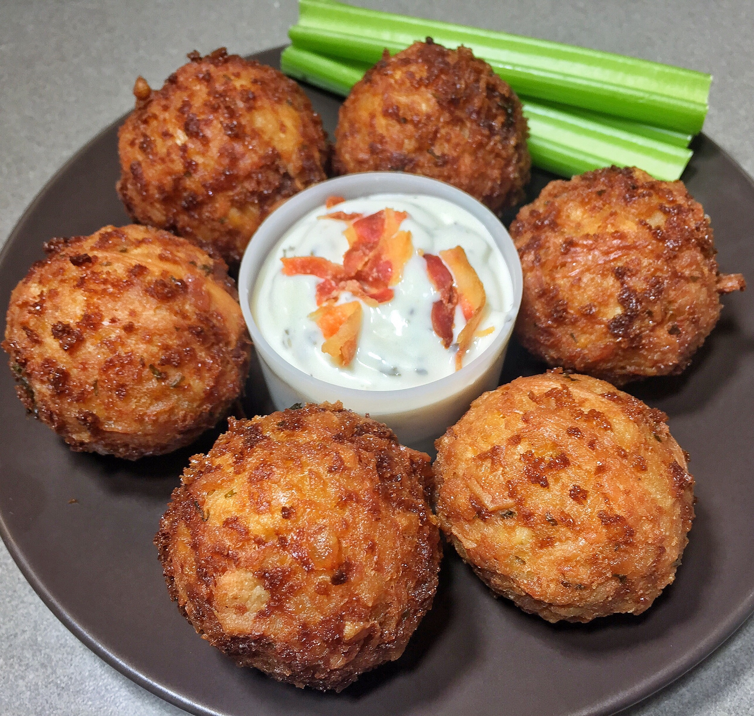 recipe: fried buffalo chicken balls [5]
