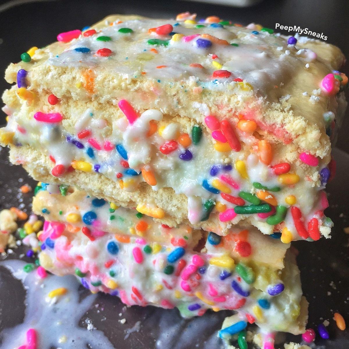 Deep Fried Birthday Cake Pop Tart Ice Cream Sandwich